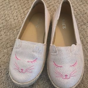 Toddler girls cat sparkle espadrilles size 10t